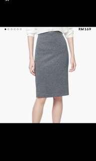 Mango MNG herringbone pencil skirt size s