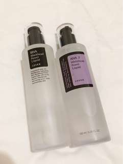 COSRX BHA Blackhead Power Liquid & AHA 7 Whitehead Power Liquid