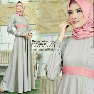 MF - 0418 - Dress Gamis Busana Muslim Wanita aresya