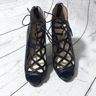 Jo Mercer Leather Heels Size 7.5