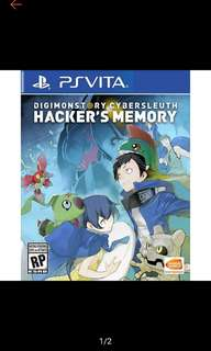PS VITA digimon story cyber sleuth hacker's memory