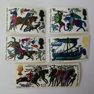 英國皇家郵政郵票 Battle of hastings stamps