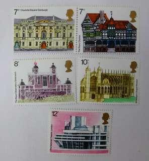 英國皇家郵政郵票 European Architectural heritage year stamps