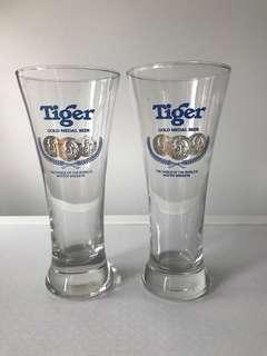 Vintage Tiger Beer Glass