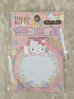 Hello kitty sticky labels