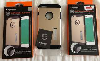 ORIG SPIGEN TOUGH ARMOR WITH KICKSTAND FOR IPHONE 6+/6s+ (CHAMPAGNE GOLD)