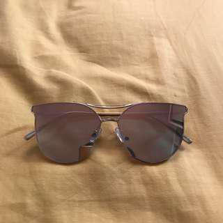 Sunglasses Gold Frame Pink Lens