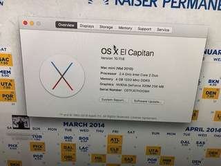 Apple Mac mini 2010 120gb SSD A1347 MC270LL/A 4gb ram