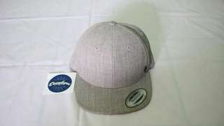 Snapback Ripcurl Original Blank Curve Peak Cap Grey By Yupoong