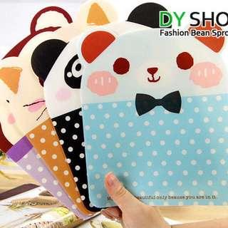 🚚 誘想買韓惑 💝 可愛動物 滑鼠墊 4款 粉藍熊/紫猴子/橘黃貓/黑白熊貓 現貨在台