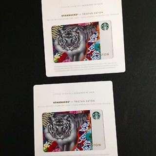 Starbucks card Tristan tiger limited