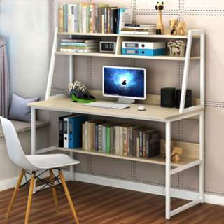 Desk with shelf