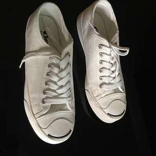 🚚 ollie 韓國白色帆布鞋。40