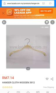 Wooden Clothes Hanger with rubber grip