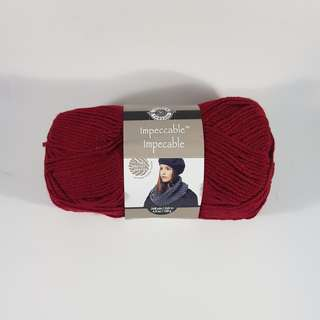 Loops & Threads Impeccable medium acrylic yarn (Claret)