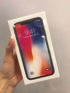 Iphone X 64GB 100%new