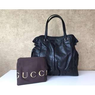 GUCCI 257290 LEATHER FULL MOON TOTE BAG