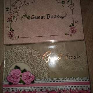 Buku tamu saat undangan pernikahan per pcs buku ya..