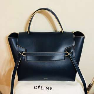 Celine belt bag black blue mini size chanel