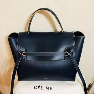 Celine belt bag black blue mini size chanel