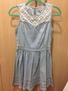 Cache Cache Denim Lace Dress