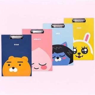 🚚 誘想買韓惑 💝 正韓國 Kakao Friends A4 文件夾 墊板 3款 220x310 現貨在台