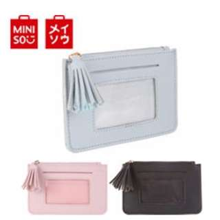 Japan Quality Miniso - Dompet Kartu Koin Single Tassels Import