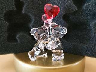 Swarovski 水晶擺設 結婚禮品 甜蜜見證