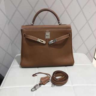 Hermes kelly 32 gold togo