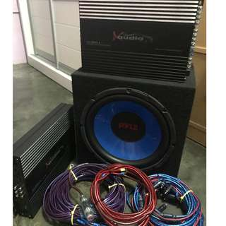 Car Amplifier,woofer audio set