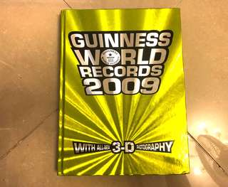 95%new Guiness world records 2009 with 3D photography and glasses 健力氏世界紀錄冊