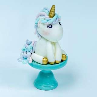 Unicorn Fondant Topper