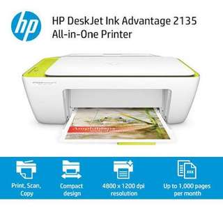 Printer HP 2135 Hewlett Packard Print Scan Copy