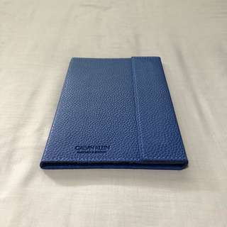Calvin Klein Leather Magnetic Navy Notebook