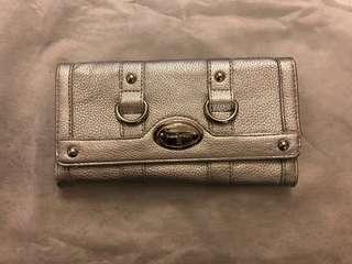 Authentic Nine West silver long wallet 名牌銀色長銀包