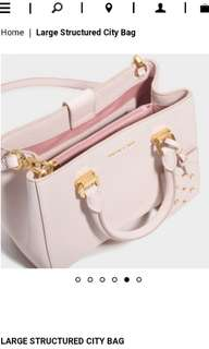Charles and Keith Pink Bag