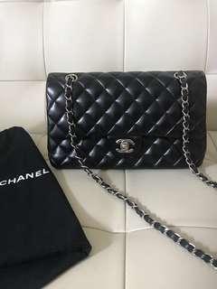 經典Chanel Medium Classic Double Flap Black Bag