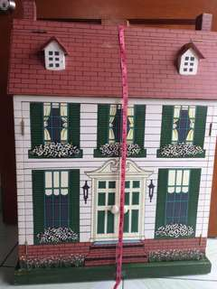 Wooden Dollhouse free delivery via grab