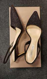 Charles & Keith Heels (Blue Glitter) Size 37