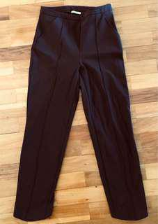 KOOKAI black straight leg high waisted stretch Capri pants side zip light scuba fabric AS NEW! 10-12