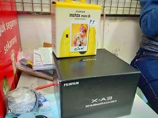 Fujifilm XA3 Kit XC16-50mm f3.5-5.6 OIS II (Pink) + Instax Mini 8