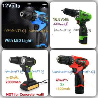 Brand New 4 Sets Cordless Drill