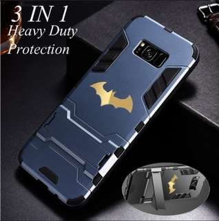 Multifunction Hard Armor w/ Batman Sticker Printing Pattern Waterproof, Shockproof & Dustproof Protective Case w/ Stand