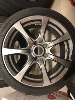"Rim 17"" with tire for swap or sell"