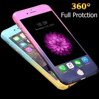 360° Fullbody Cover Gradient Case (Back Cover w/ Tempered Glass)