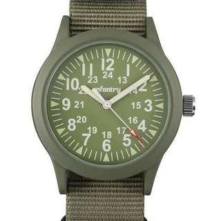 🚚 超低價!全新正品 INFANTRY 軍事風 夜光設計 不鏽鋼 尼龍錶帶 超性格Mini款 小巧可愛 軍事風 女式手錶 腕表