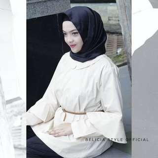 Yasmin Top Cream - Baju Muslim Cewek