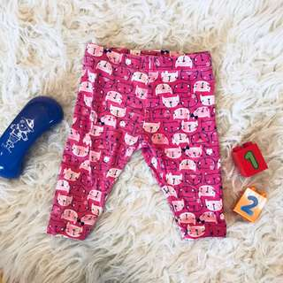 🌺Mothercare Kitty Baby Leggings 0-3m