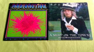 Pding RADIOACTIVE . radioactive (series two) ( Rare) ● ROD STEWART . a night on the town ( buy 1 get 1 free )  Vinyl record