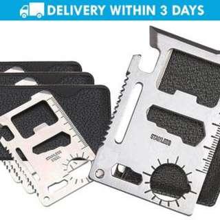 GV 10pcs. Set of 11-in-1 Survival Multi-Tool Kit Card